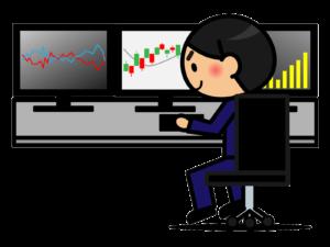 投資イメージ 複数モニター