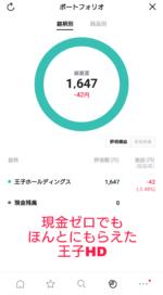 LINE証券 3株キャンペーン7